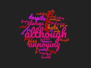 school leaver's book word cloud